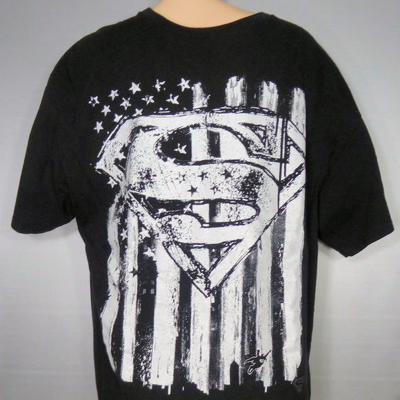 1bbdda1fd DC Comics Shirts | Superman Black Tshirt W White Graphics | Poshmark